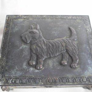 Vintage Scotty Scottie Dog Jewelry Trinket Box